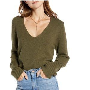 Something navy  v neck sweater